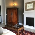 Pan fireplace and TV & drinks cabinet