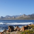 Klein hangklip mountain to the left; overlooking Rooi Els from The Point