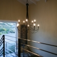 chandelier in stairwell
